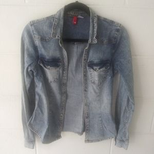 Divided by H&M Denim Long Sleeve Top Size 6